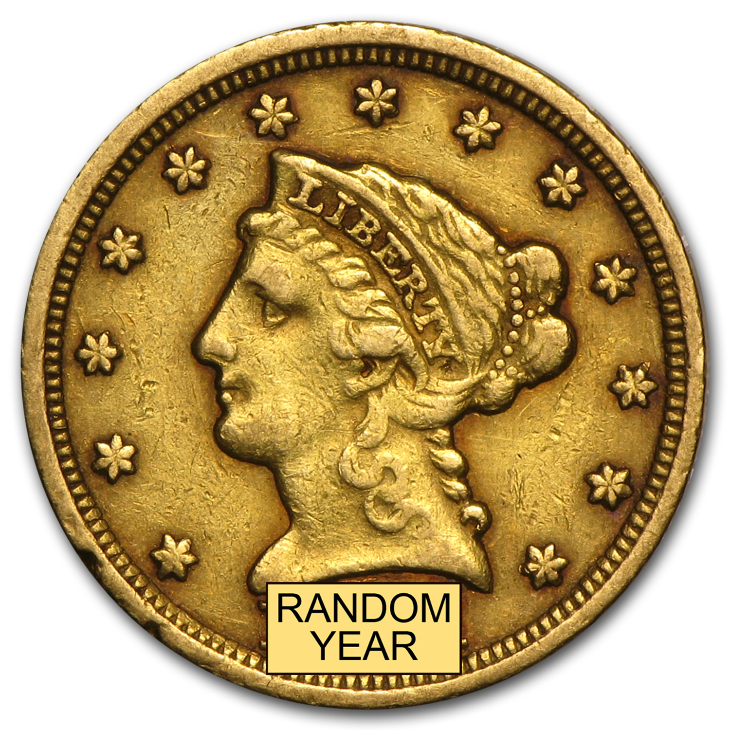 $2.50 Liberty Gold Quarter Eagle VF (Random Year)
