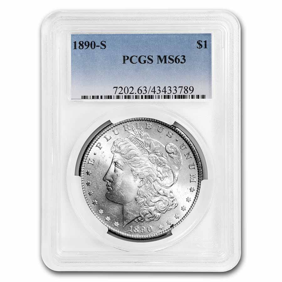 1890-S Morgan Dollar MS-63 PCGS