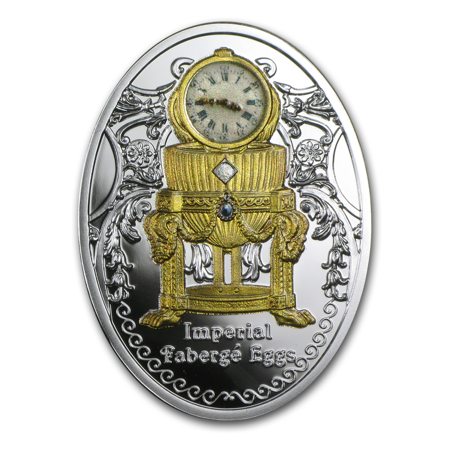 2015 Niue Silver Imperial Faberge Eggs Third Imperial Egg