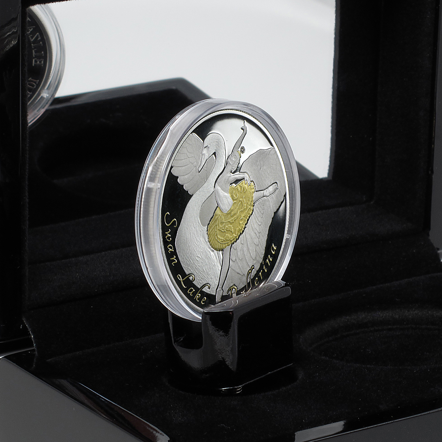 2014 Cook Islands Silver $10 Swan Lake Diamond Ballerina Coin