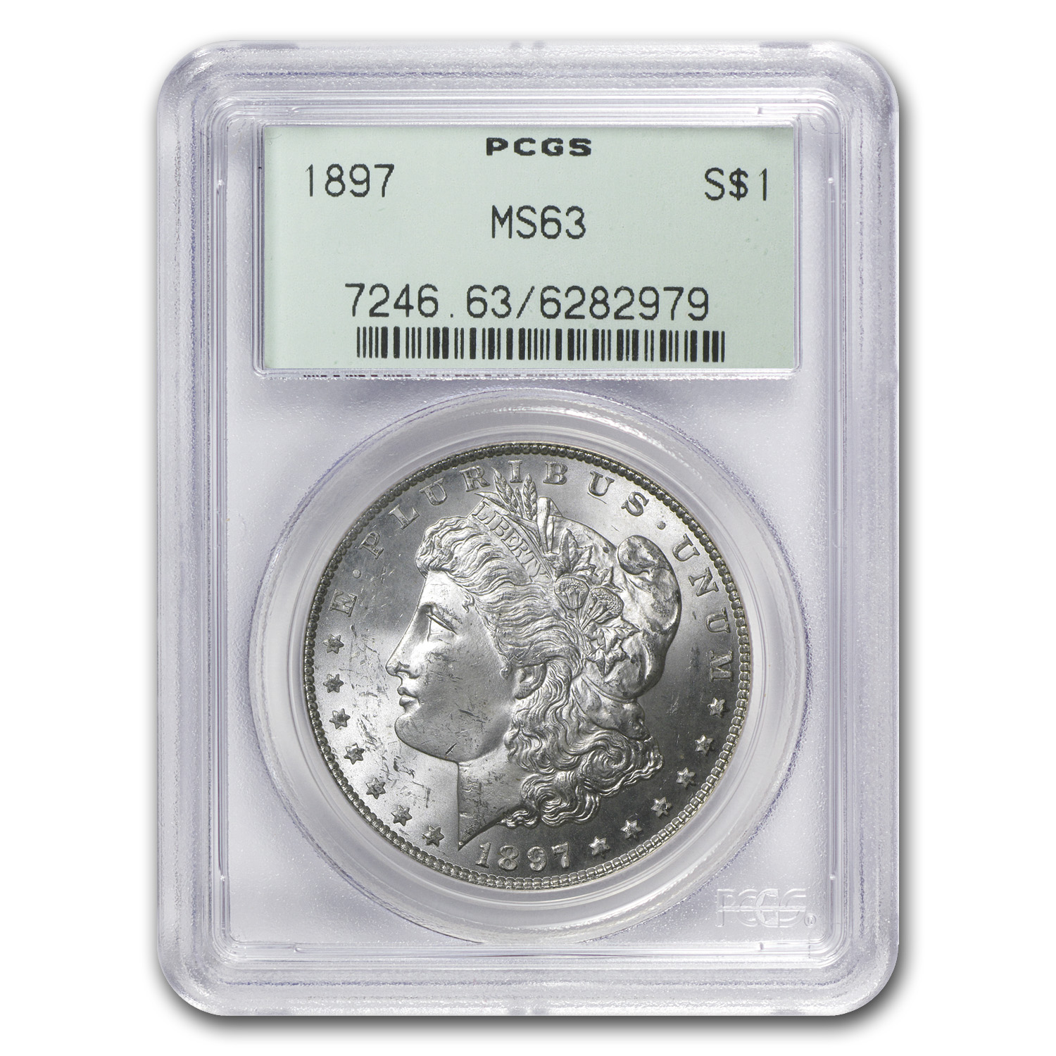 1897 Morgan Dollar - MS-63 PCGS