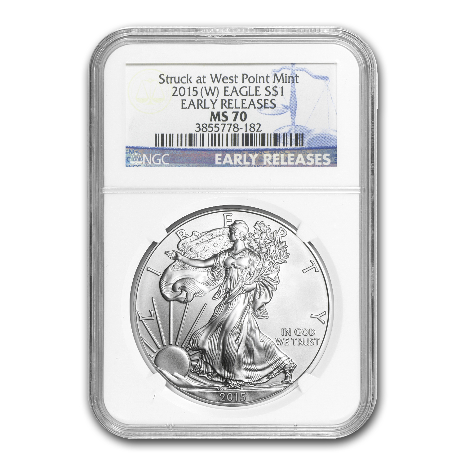 2015 (W) Silver American Eagle MS-70 NGC (Early Releases) 1/30