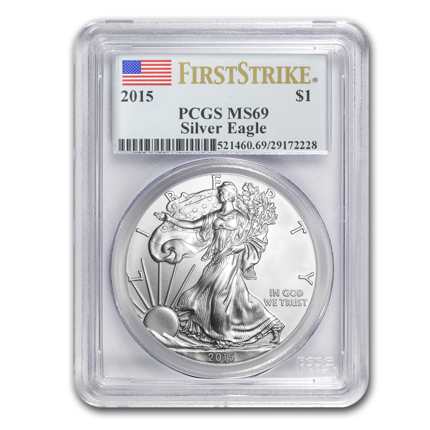 2015 Silver American Eagle MS-69 PCGS (First Strike)