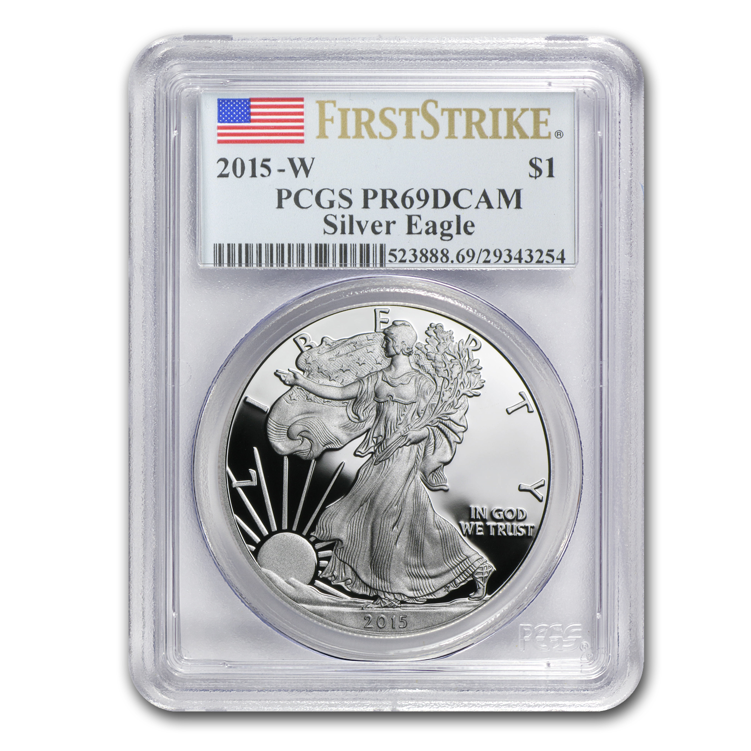 2015-W Proof Silver American Eagle PR-69 PCGS (First Strike)