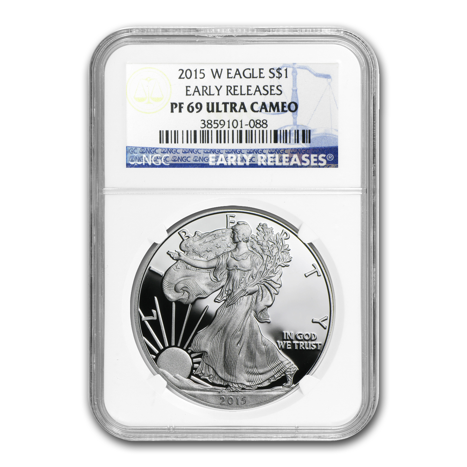 2015-W Proof Silver American Eagle PF-69 NGC (Early Release)