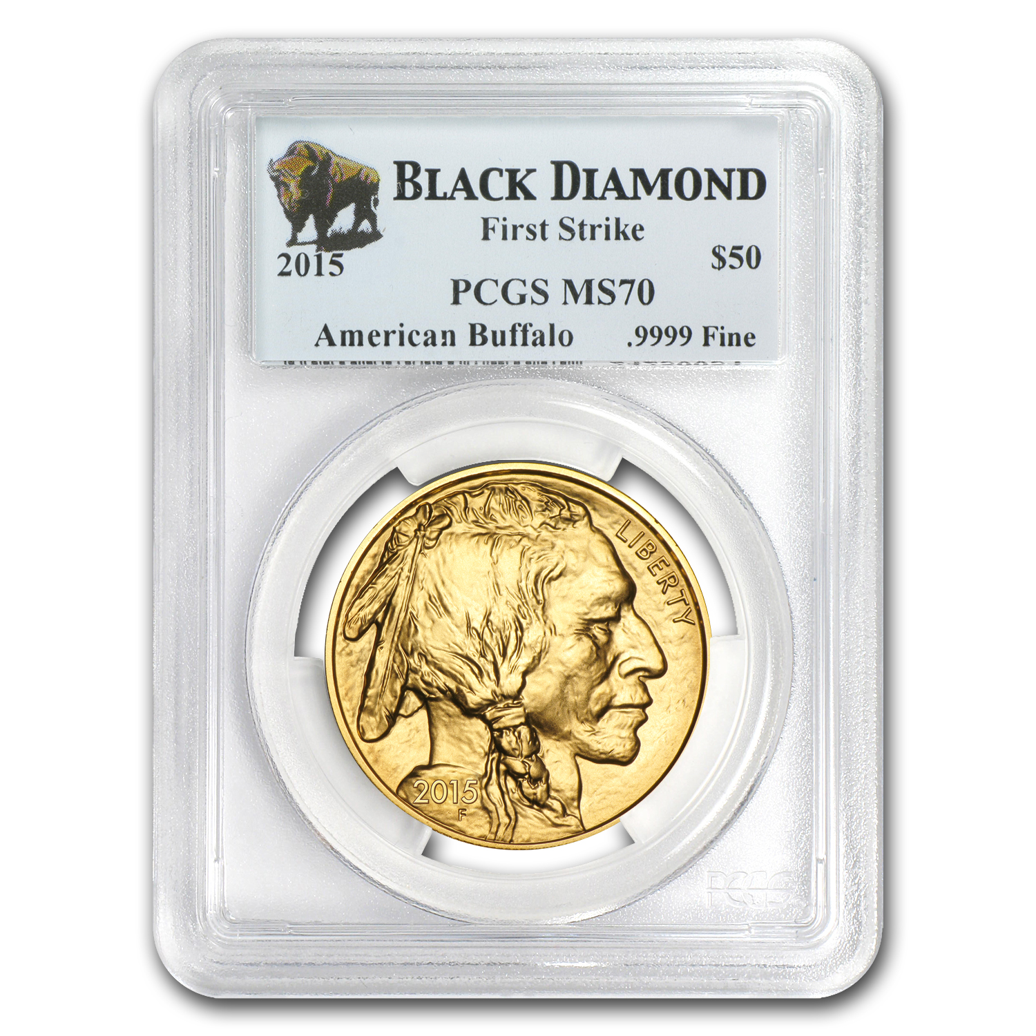 2015 1 oz Gold Buffalo MS-70 PCGS (FS, Black Diamond)
