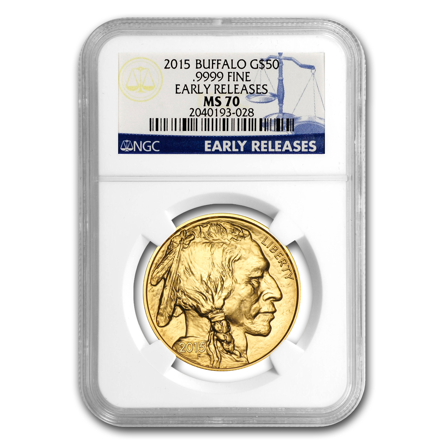 2015 1 oz Gold Buffalo MS-70 NGC (Early Releases)
