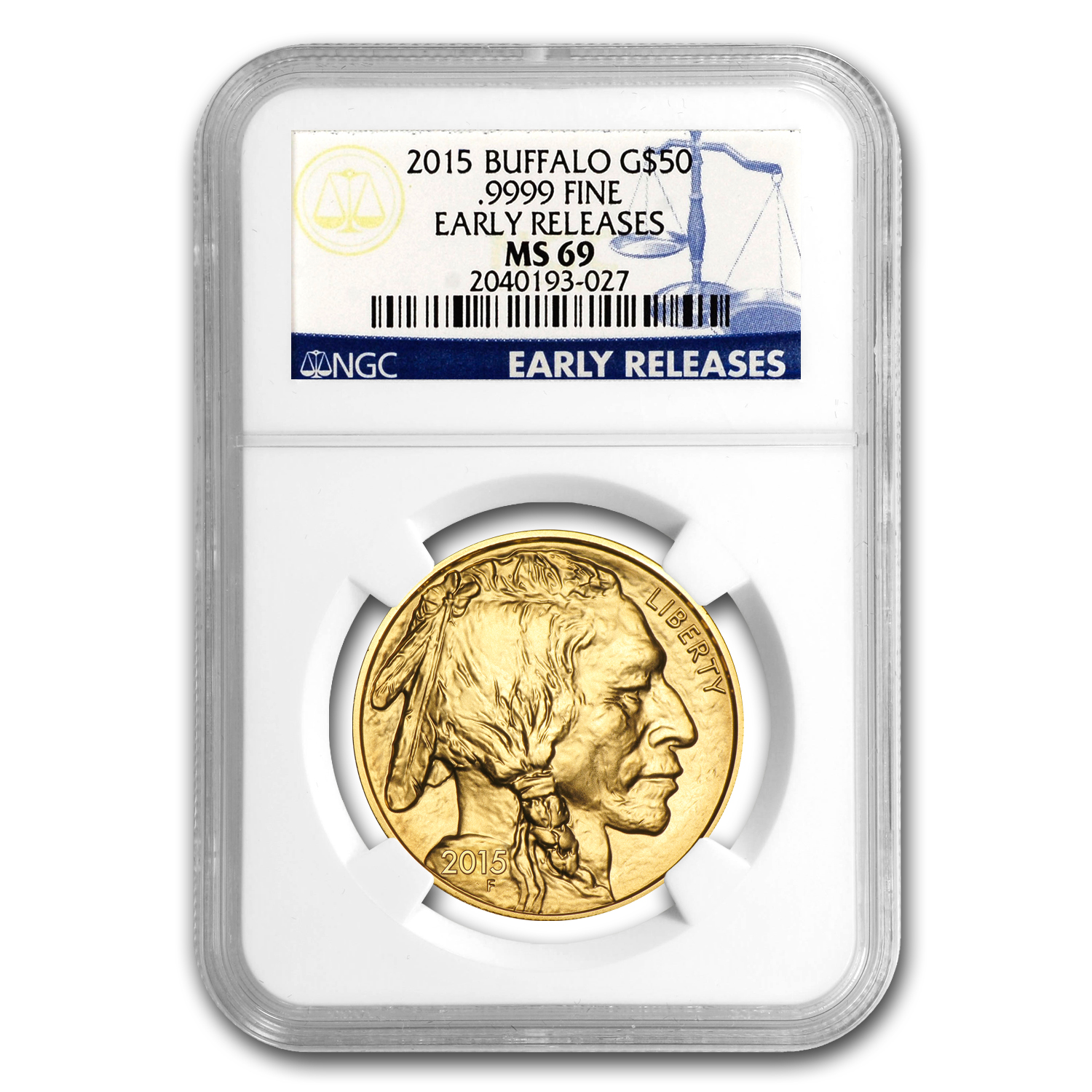 2015 1 oz Gold Buffalo MS-69 NGC (Early Releases)