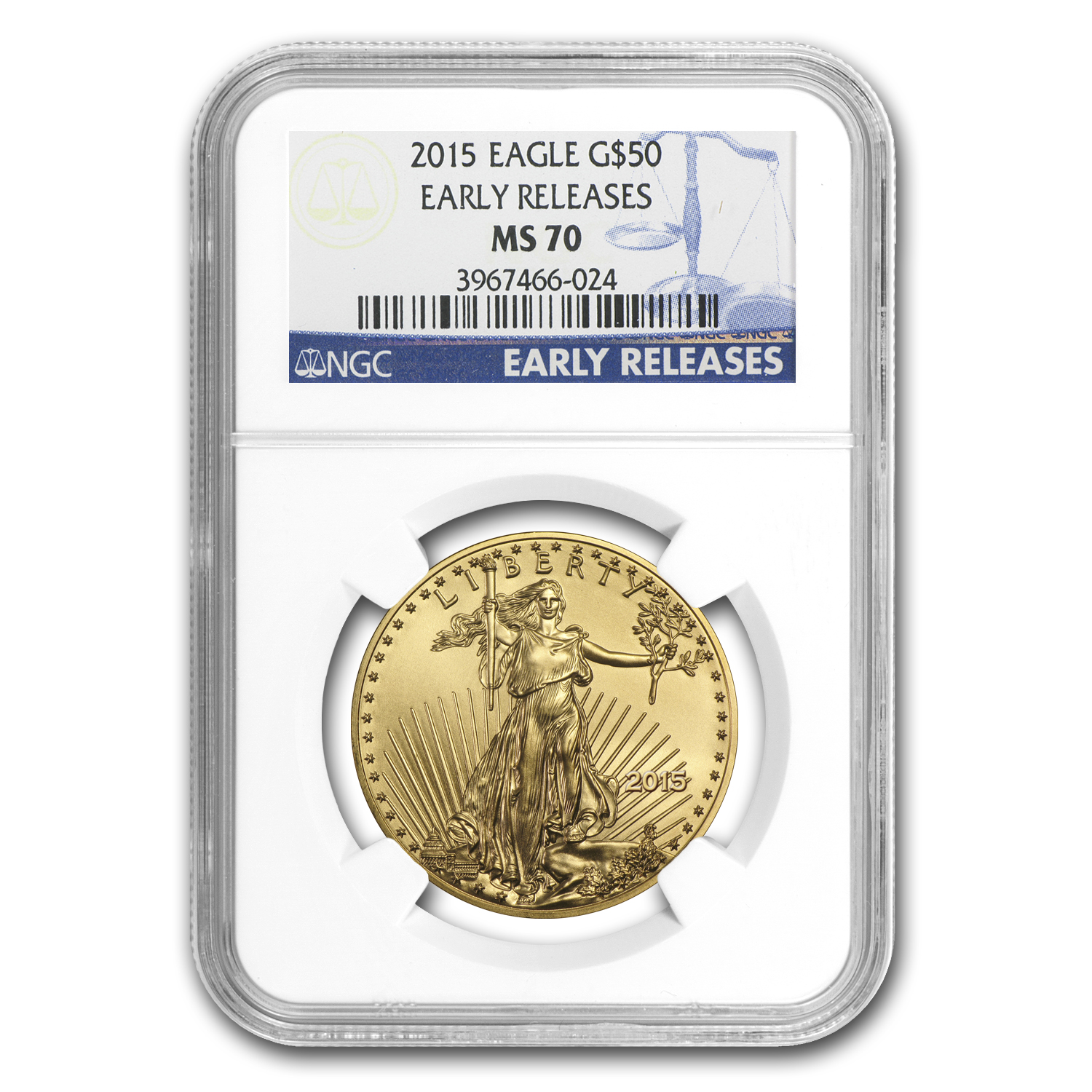 2015 4-Coin Gold American Eagle Set MS-70 NGC (ER)