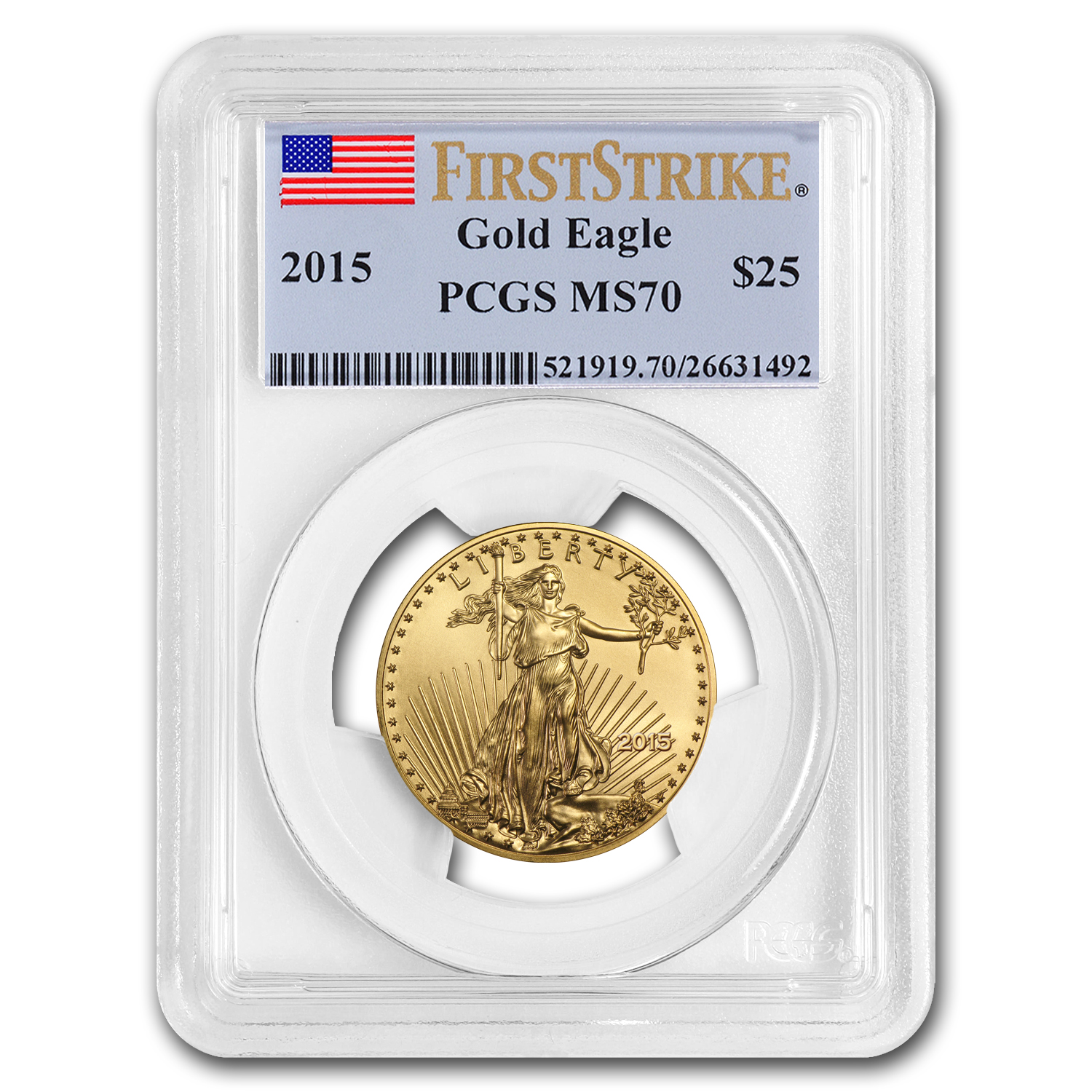 2015 1/2 oz Gold American Eagle MS-70 PCGS (FS)