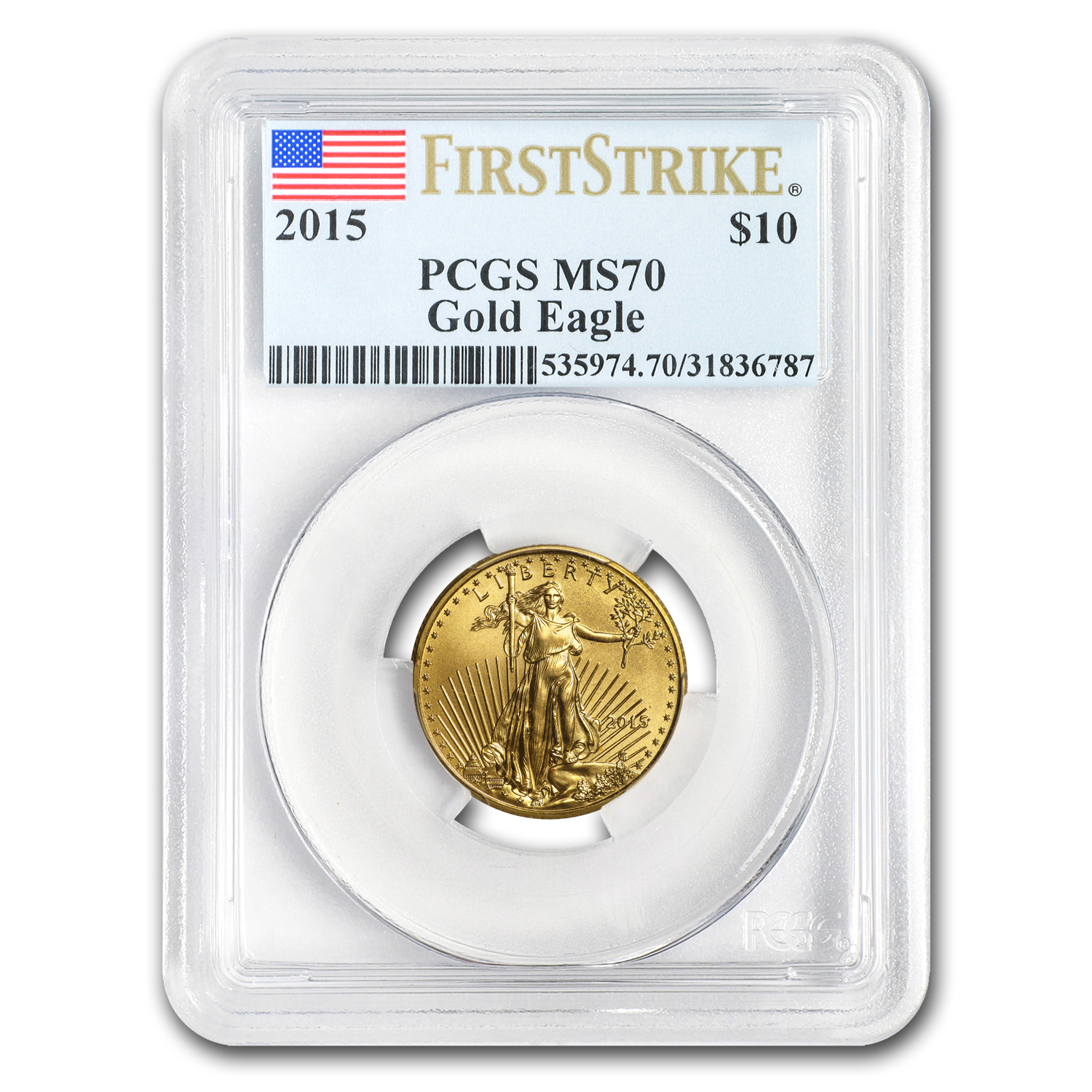 2015 1/4 oz Gold American Eagle MS-70 PCGS (FS)