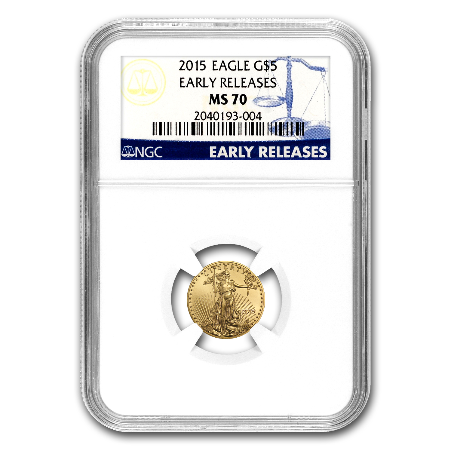 2015 1/10 oz Gold American Eagle MS-70 NGC (Early Releases)