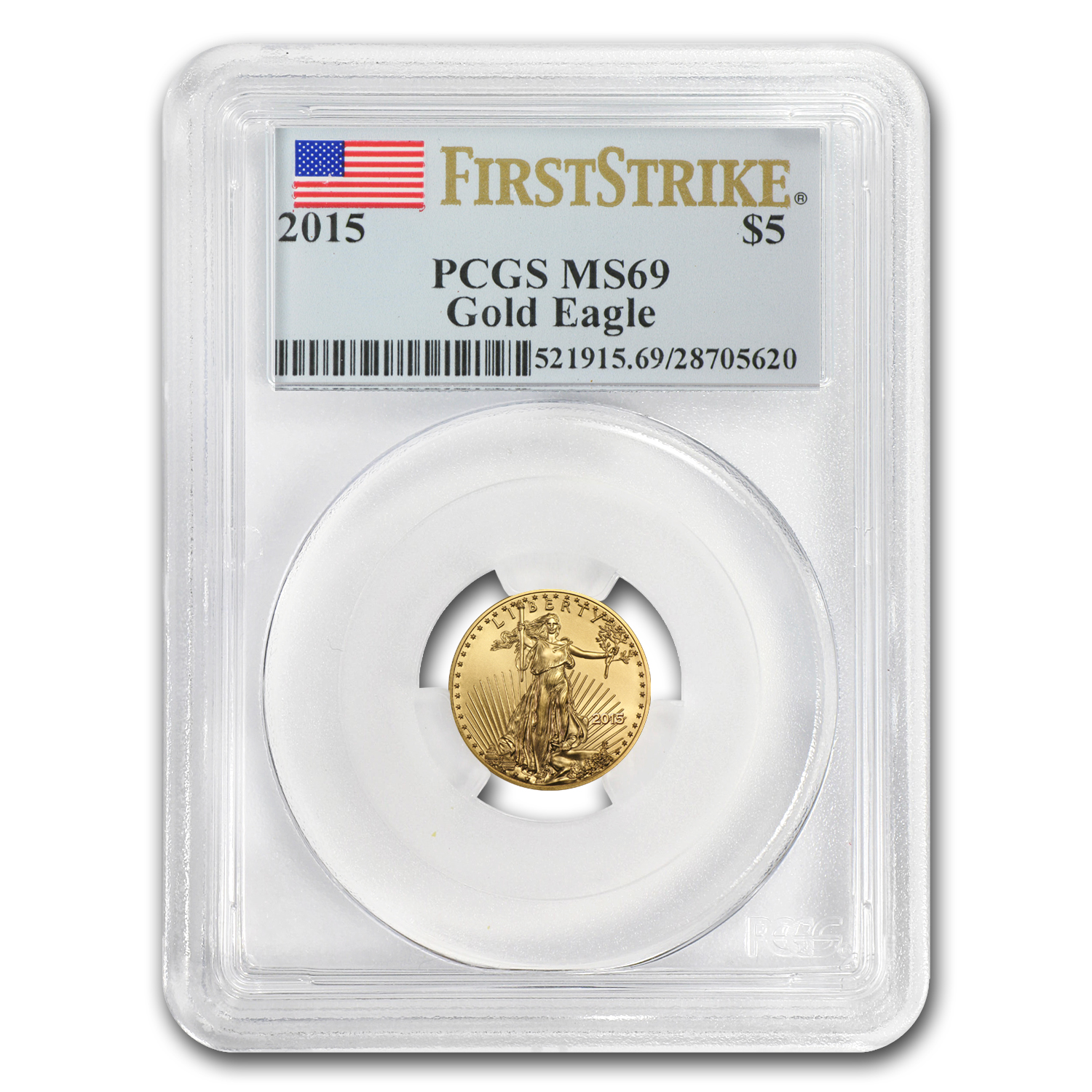 2015 1/10 oz Gold American Eagle MS-69 PCGS (FS)