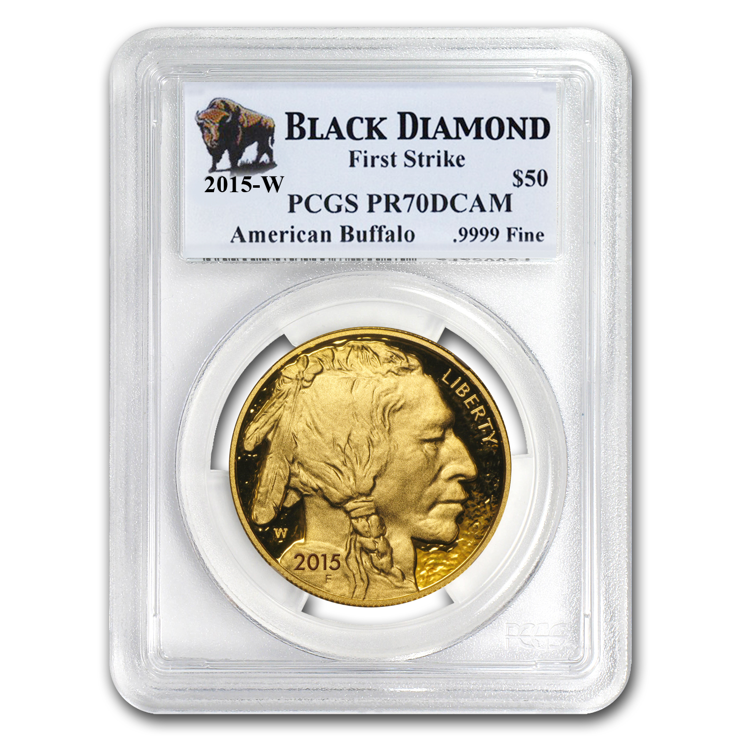 2015-W 1 oz Proof Gold Buffalo PR-70 PCGS (FS, Black Diamond)