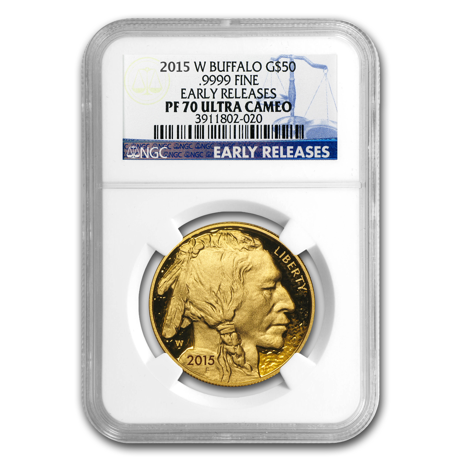 2015-W 1 oz Proof Gold Buffalo PF-70 NGC (ER)