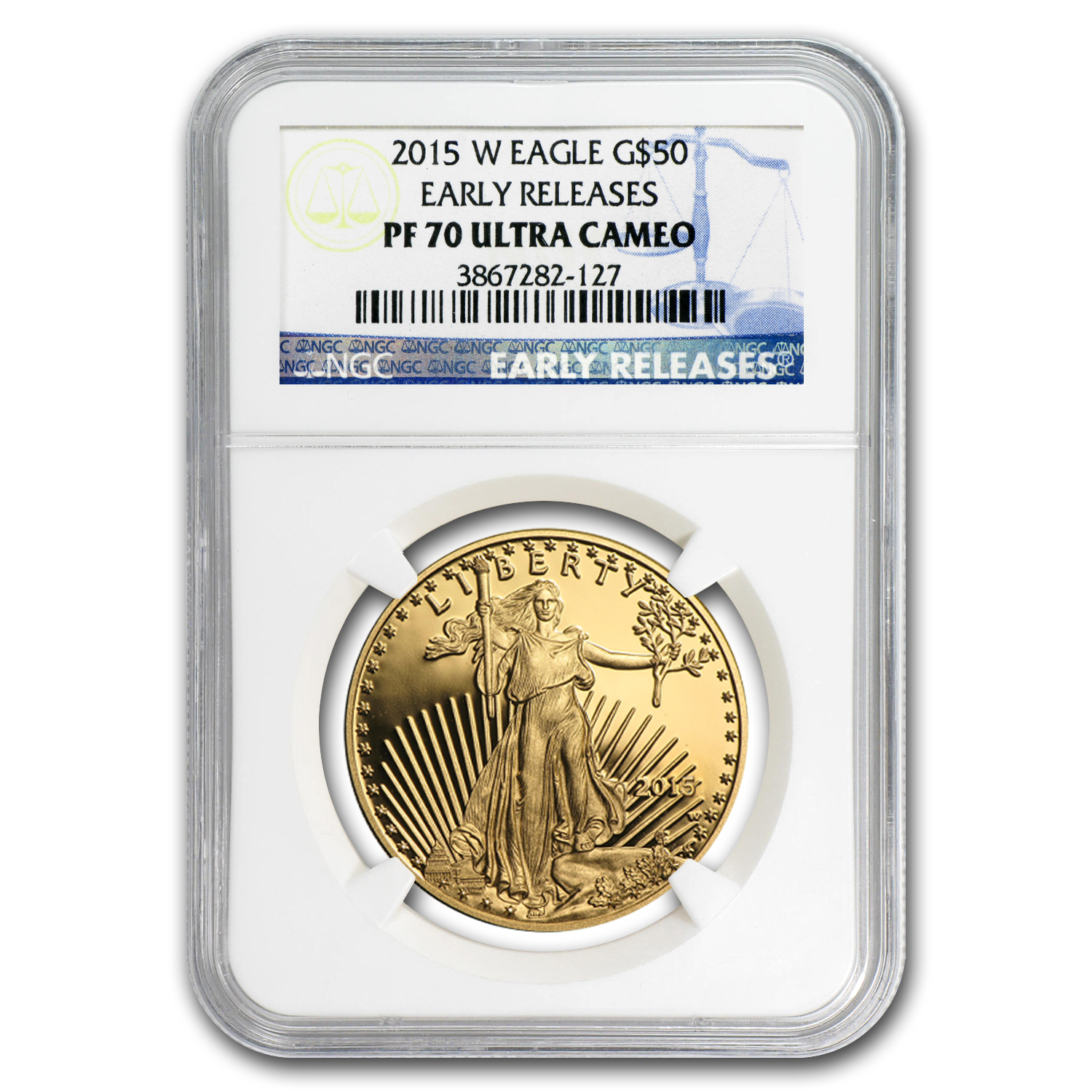 2015-W 1 oz Proof Gold American Eagle PF-70 NGC (ER)