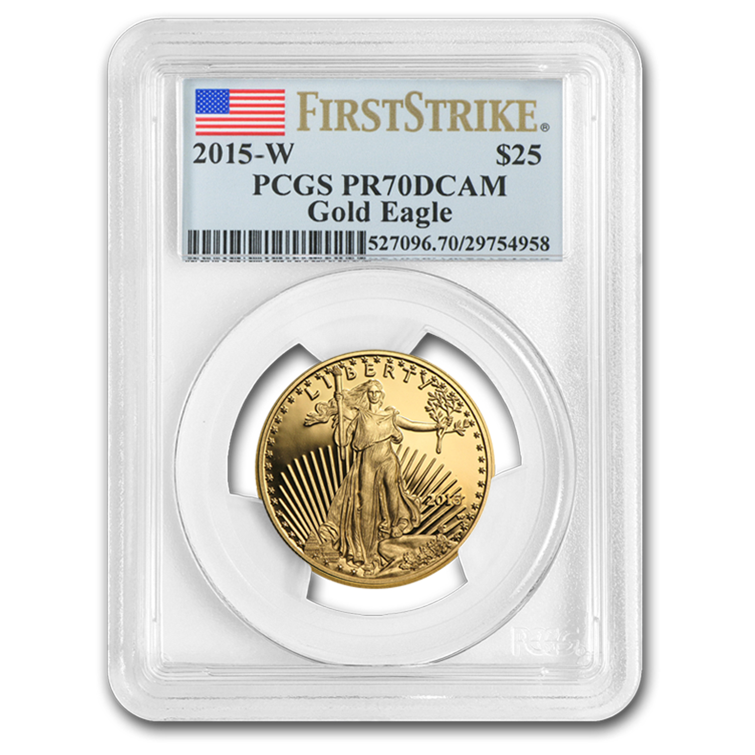 2015-W 1/2 oz Proof Gold American Eagle PR-70 PCGS (First Strike)