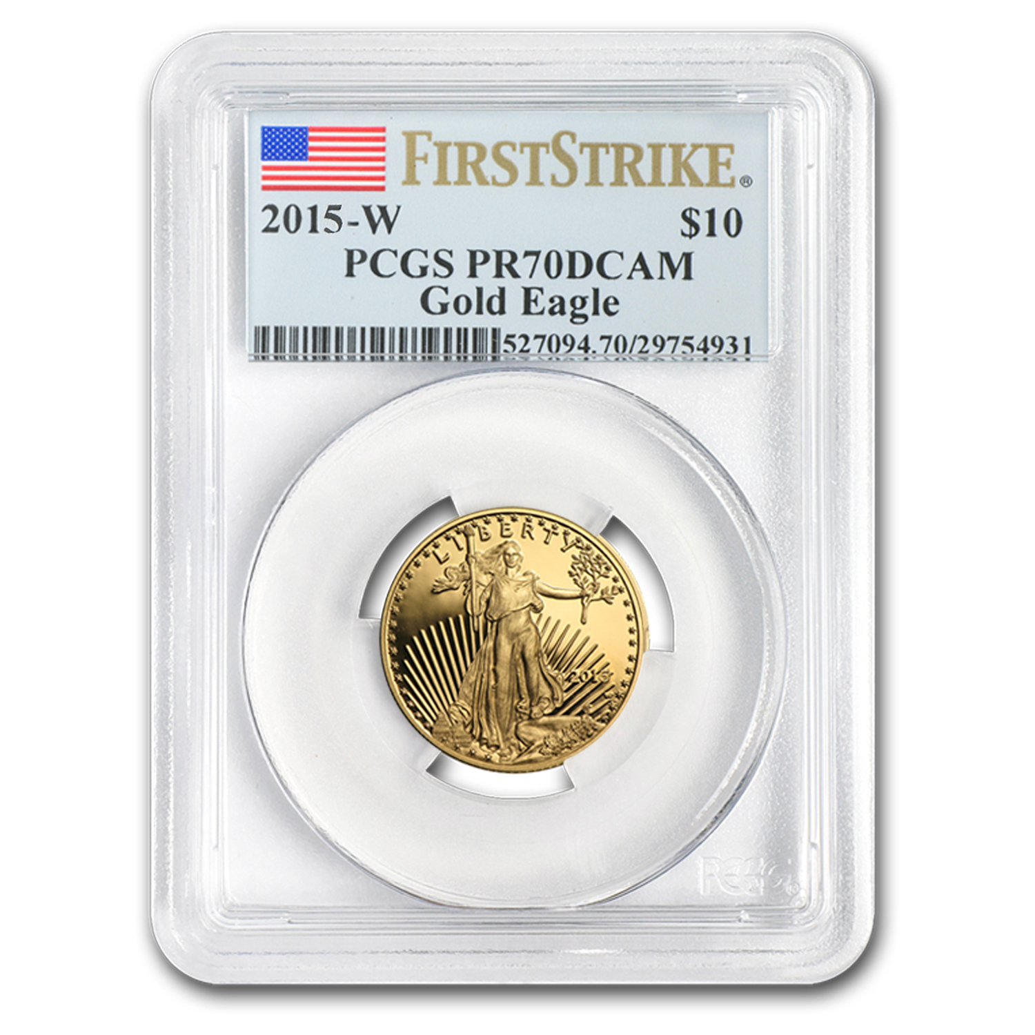 2015-W 1/4 oz Proof Gold American Eagle PR-70 PCGS (First Strike)