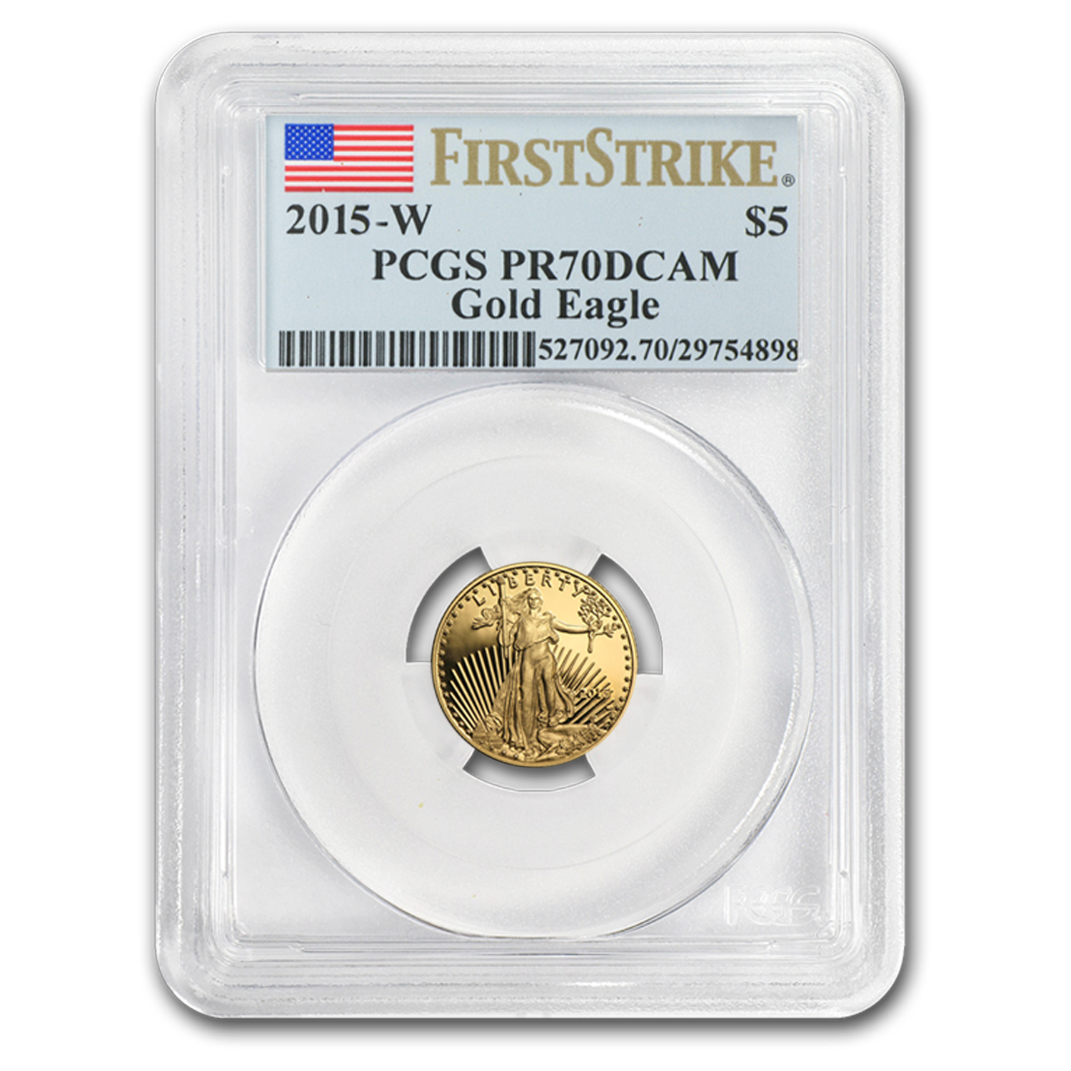 2015-W 1/10 oz Proof Gold American Eagle PR-70 PCGS (FS)