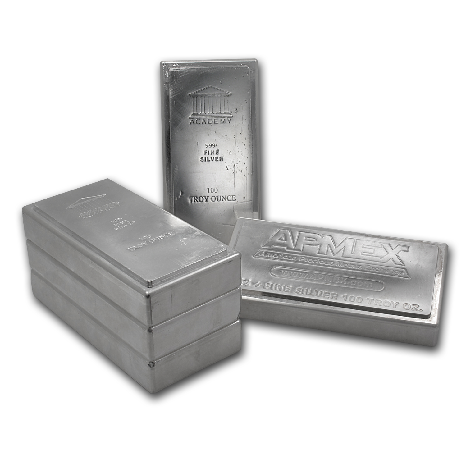 100 oz Silver Bar - Brand Name (Stackable/Secondary Market)