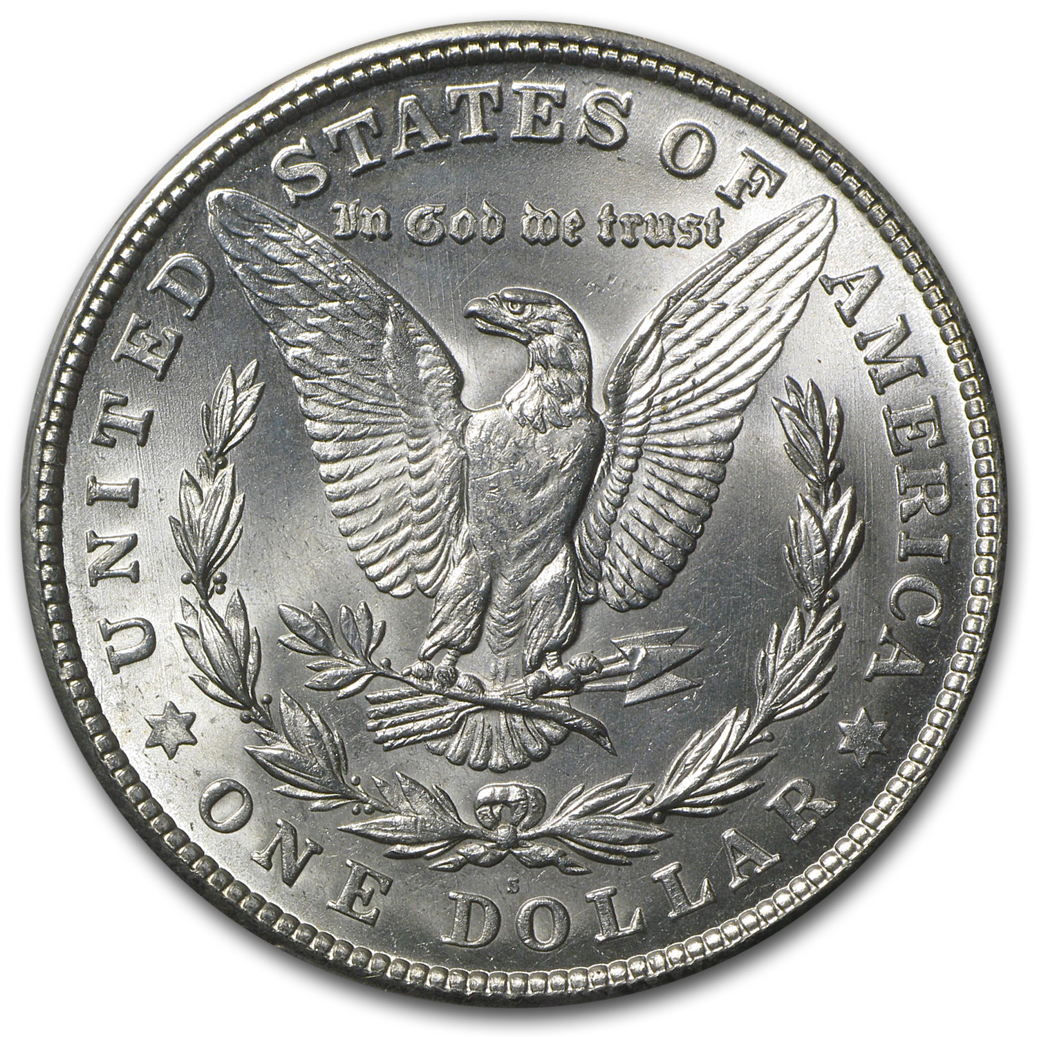 1921-S Morgan Dollar - MS-62 PCGS
