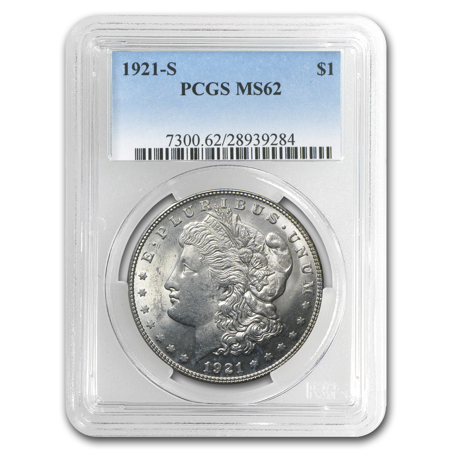 1921-S Morgan Dollar MS-62 PCGS