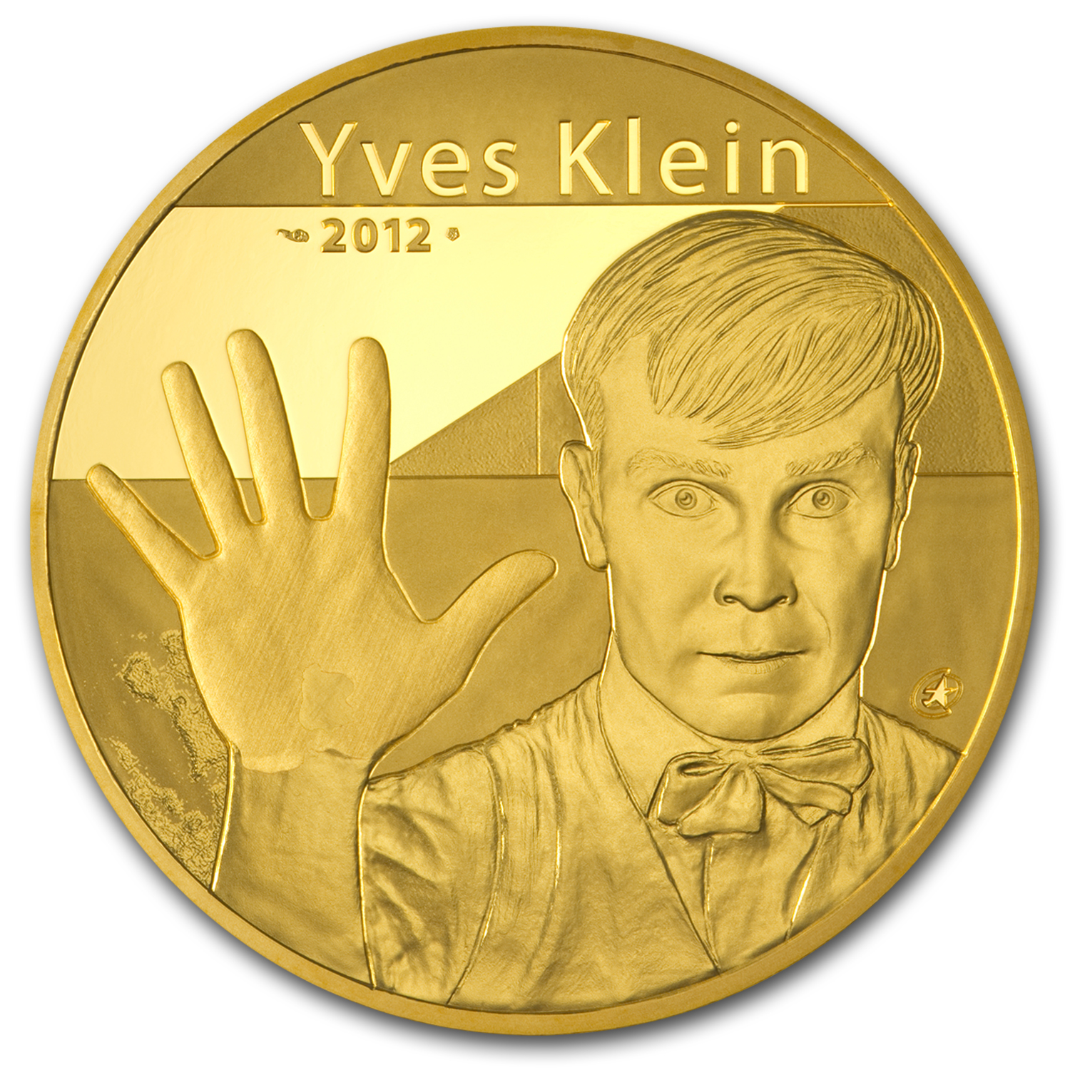 2012 5 oz Proof Gold €500 Artist Yves Klein (2-17)