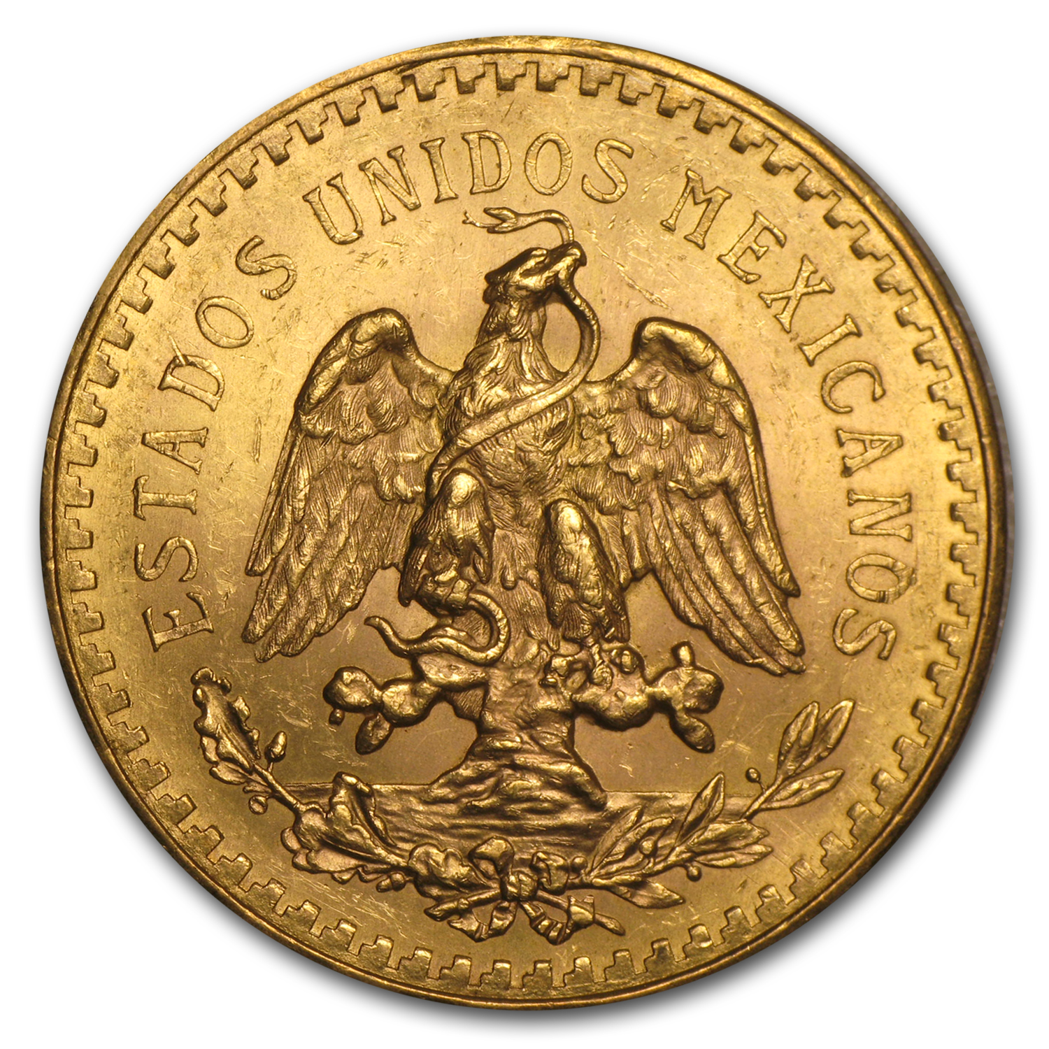 1929 Mexico Gold 50 Pesos BU