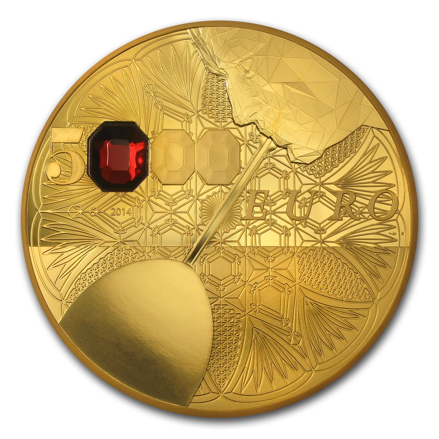 2014 1 kilo Proof Gold €5000 Excellence Series (Baccarat)