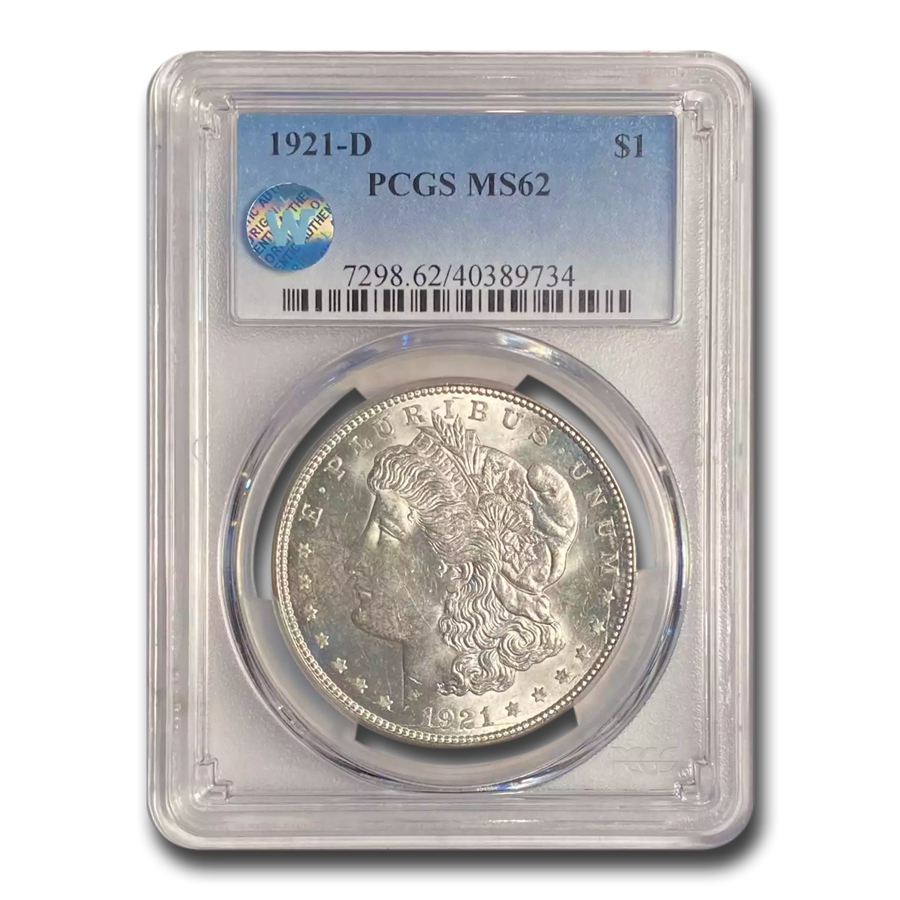 1921-D Morgan Dollar MS-62 PCGS
