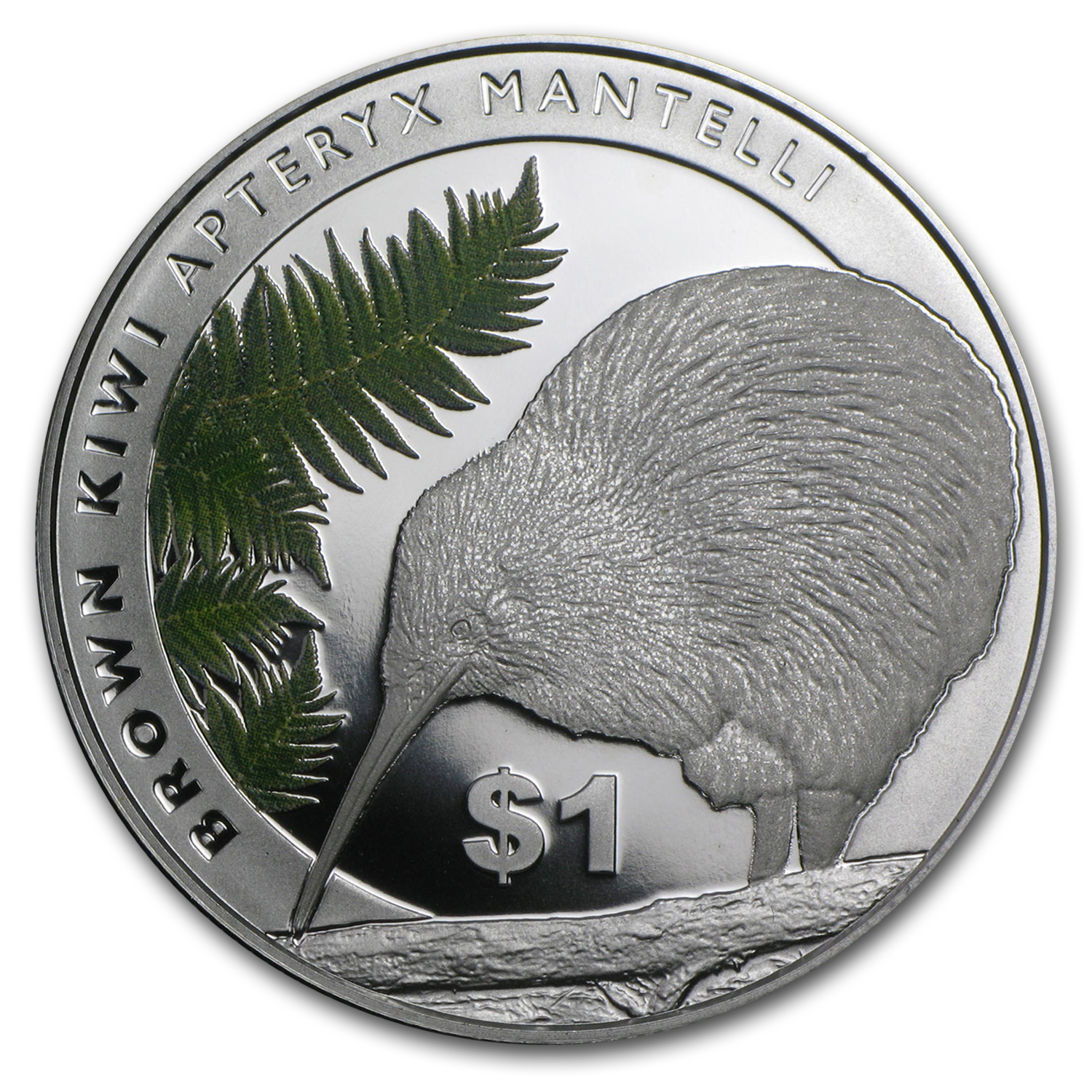 2015 New Zealand 1 oz Silver Treasures $1 Kiwi Proof (Box & COA)