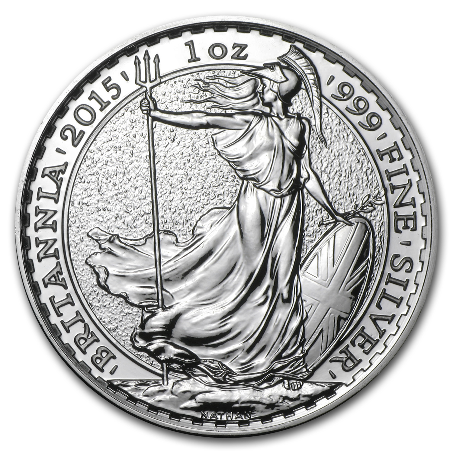 2015 Great Britain 1 oz Silver Britannia BU