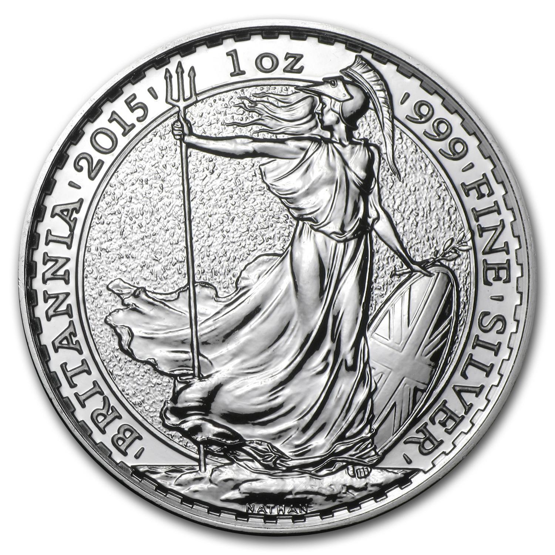 2015 Great Britain 1 Oz Silver Britannia Bu