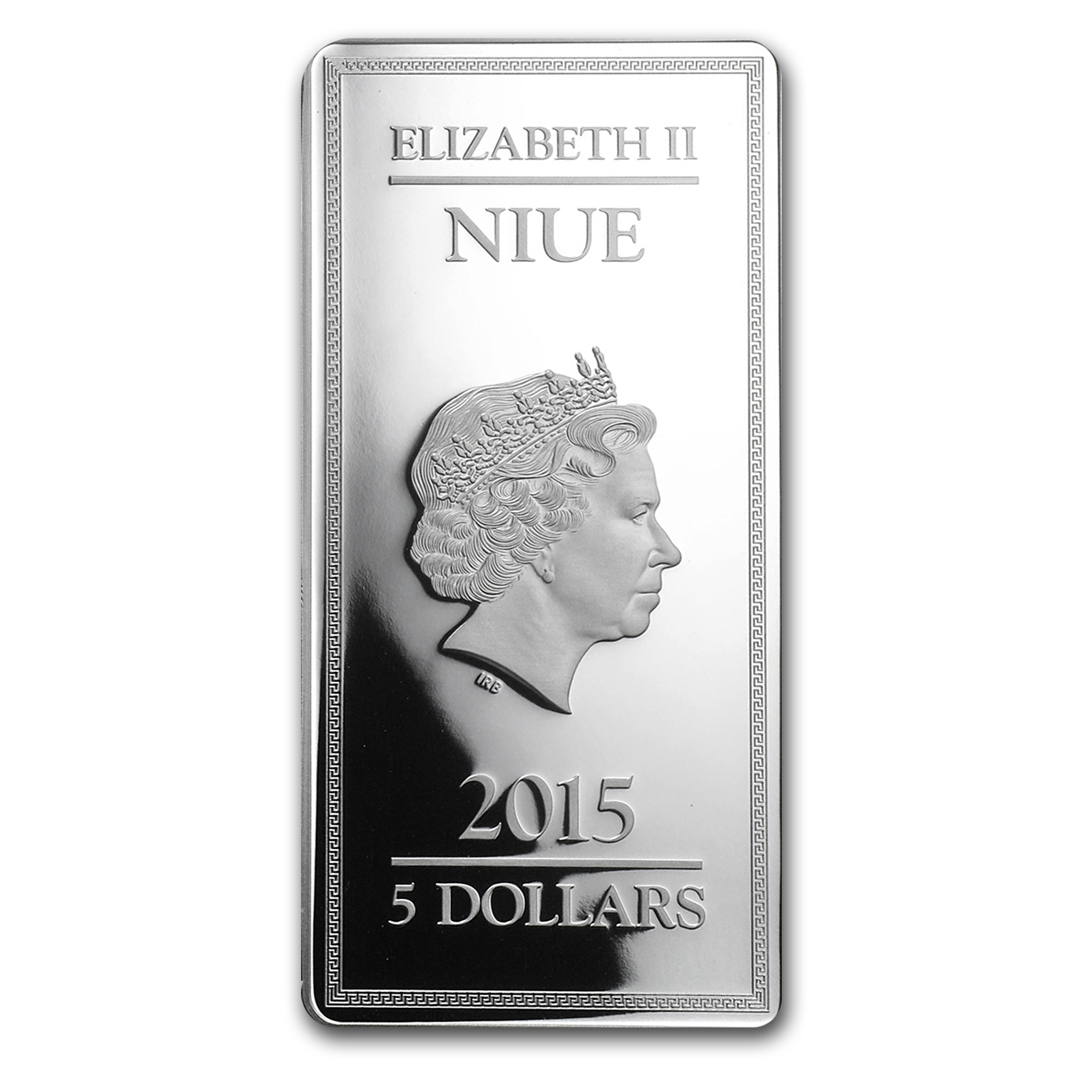 2015 Niue 2 oz Silver $5 Gods of Ancient Greece Proof (Poseidon)