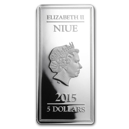 2015 Niue 2 Oz Silver 5 Gods Of Ancient Greece Proof