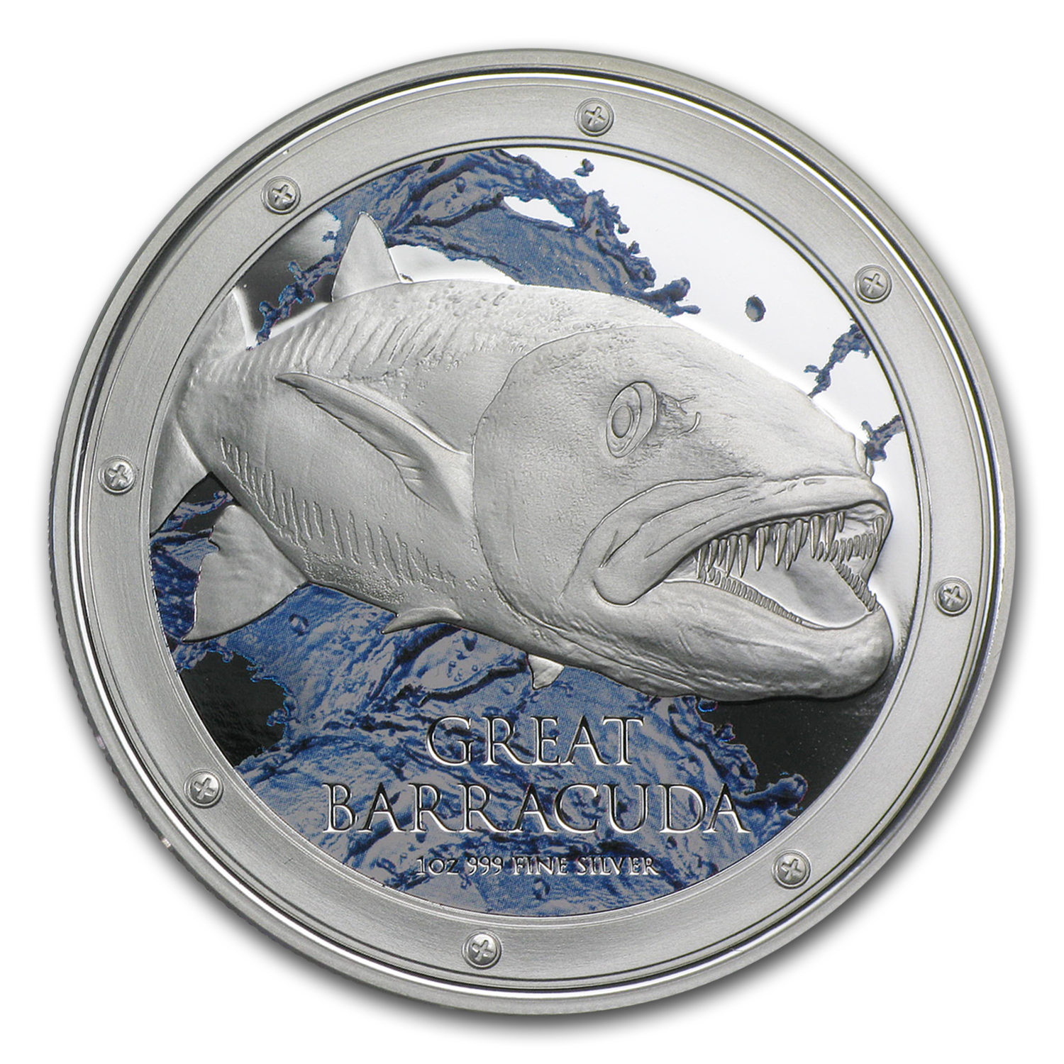 2015 Niue 1 oz Silver $2 Great Barracuda (w/Box & COA)
