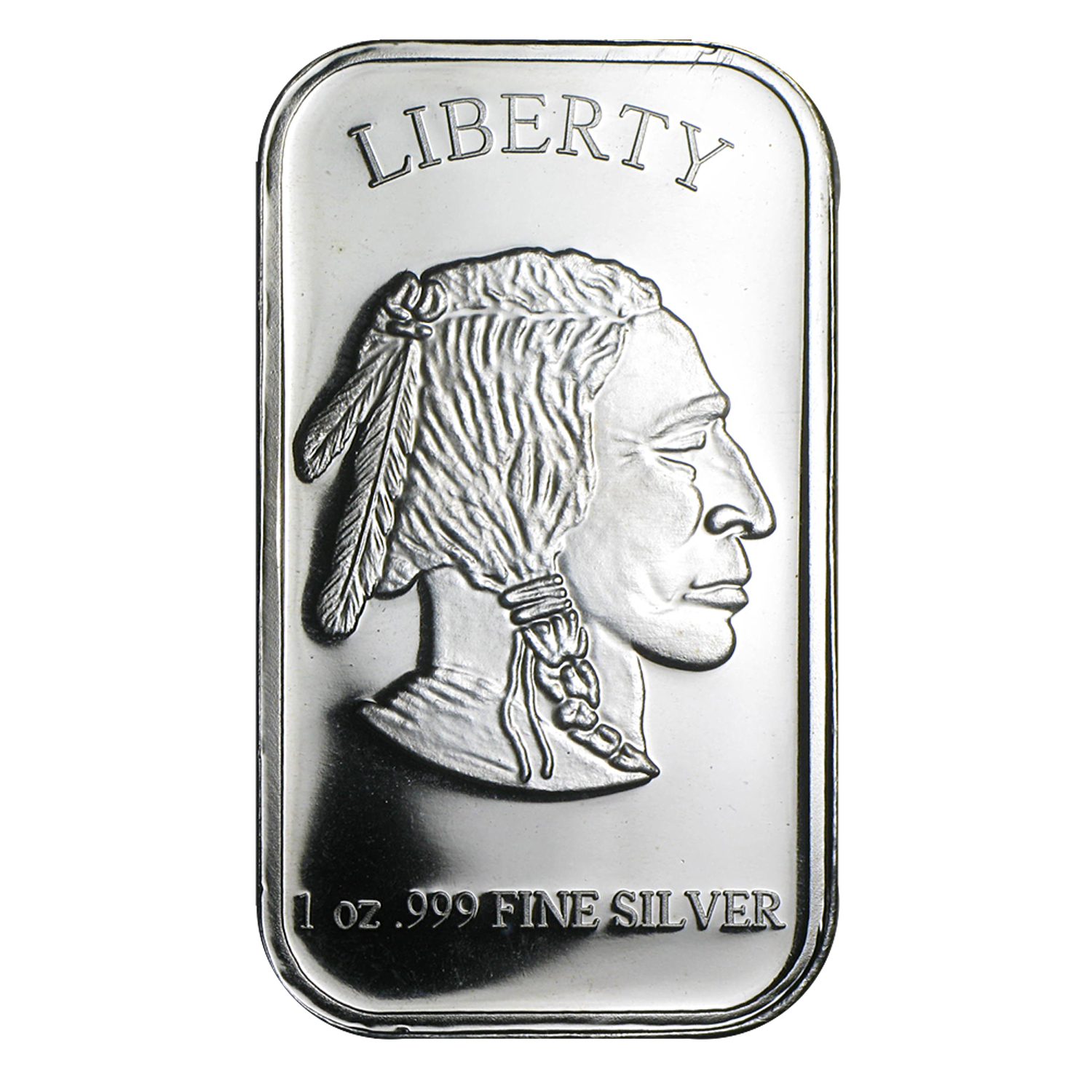 1 oz Silver Bar - American Buffalo