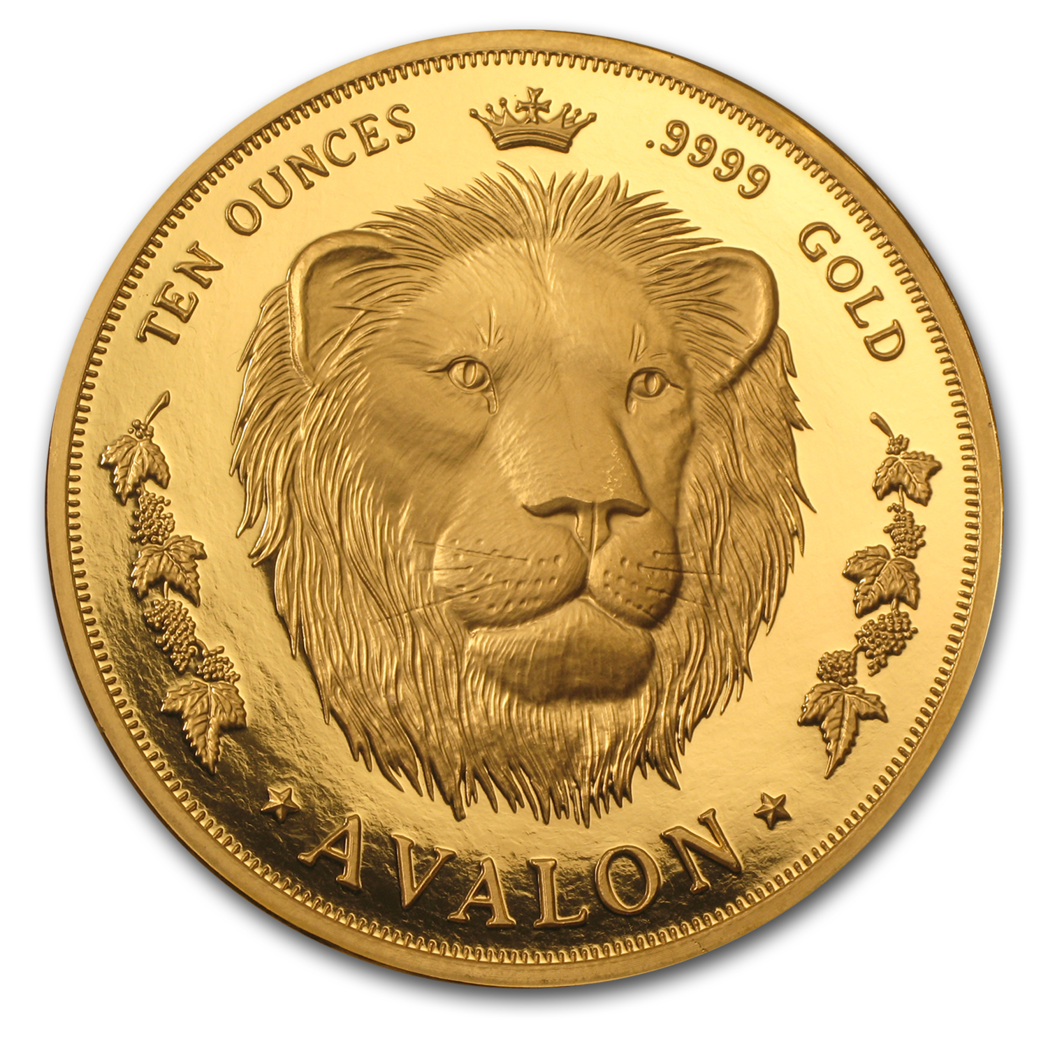10 oz Gold Round - Lion (Avalon)