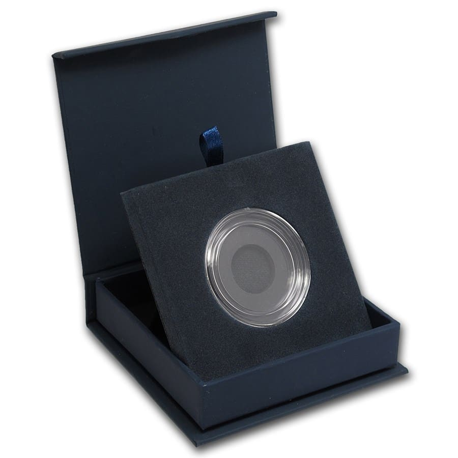 APMEX Gift Box - Includes 32 mm Direct Fit Air-Tite Holder
