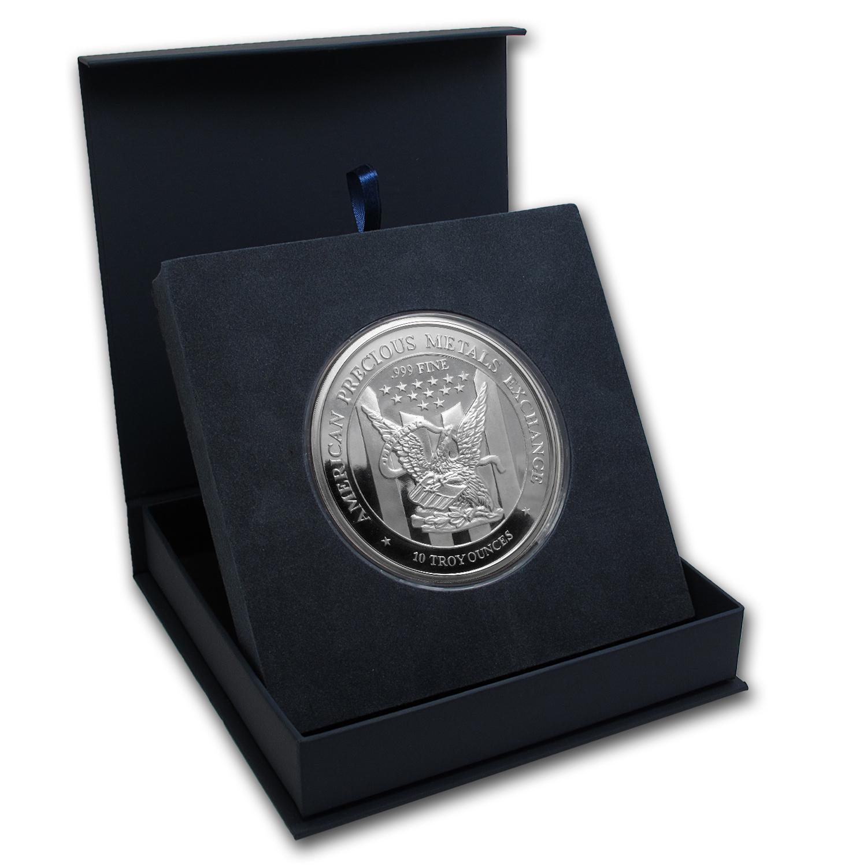 Apmex Gift Box 10 Oz Silver Round Apmex 88 6 Mm