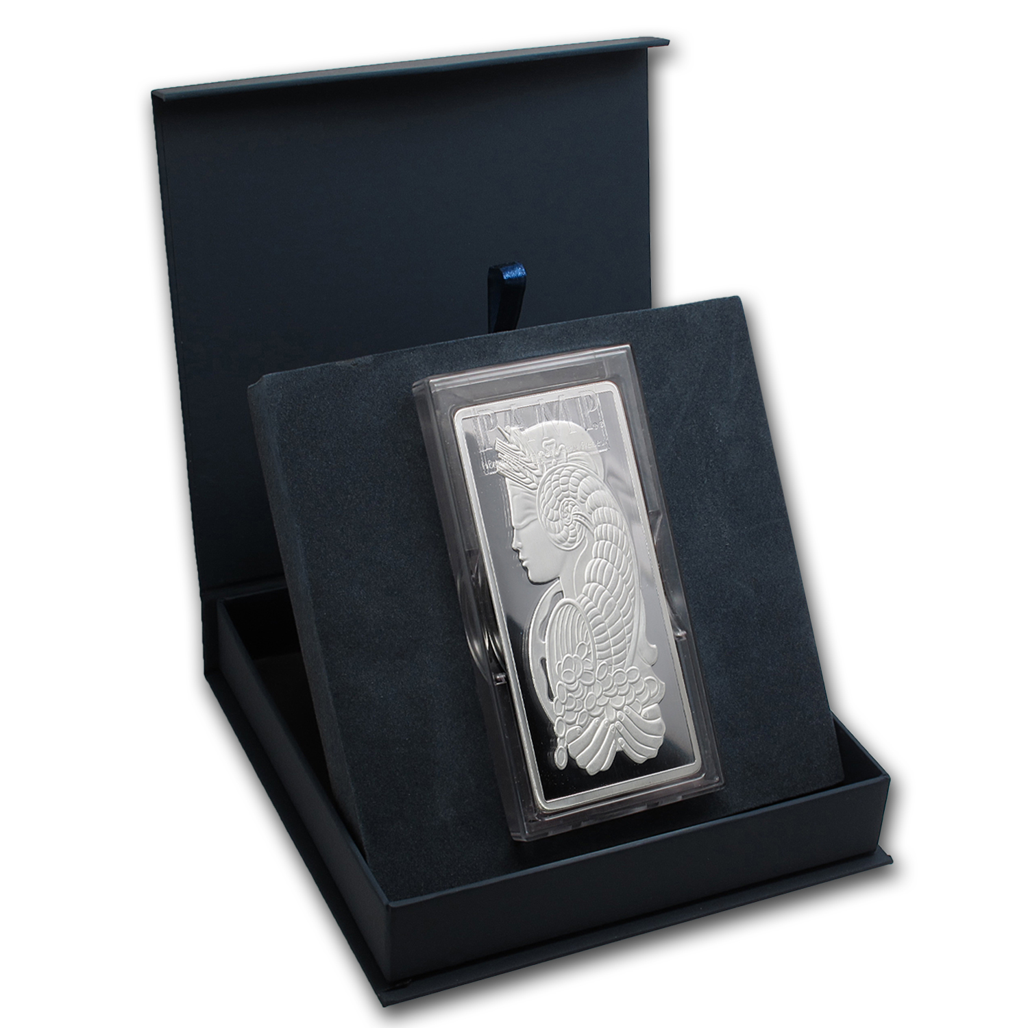 APMEX Gift Box - 1 kilo PAMP Suisse Silver Bar (w/Assay)
