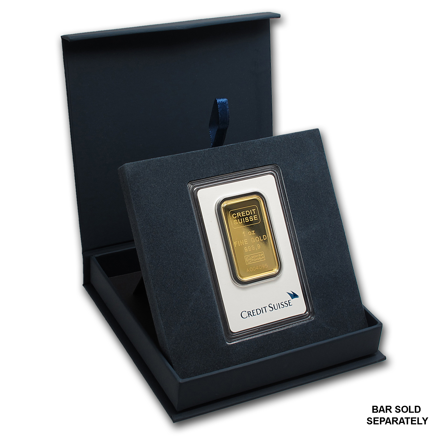 APMEX Gift Box - 1 oz Credit Suisse Gold Bar (w/Assay)