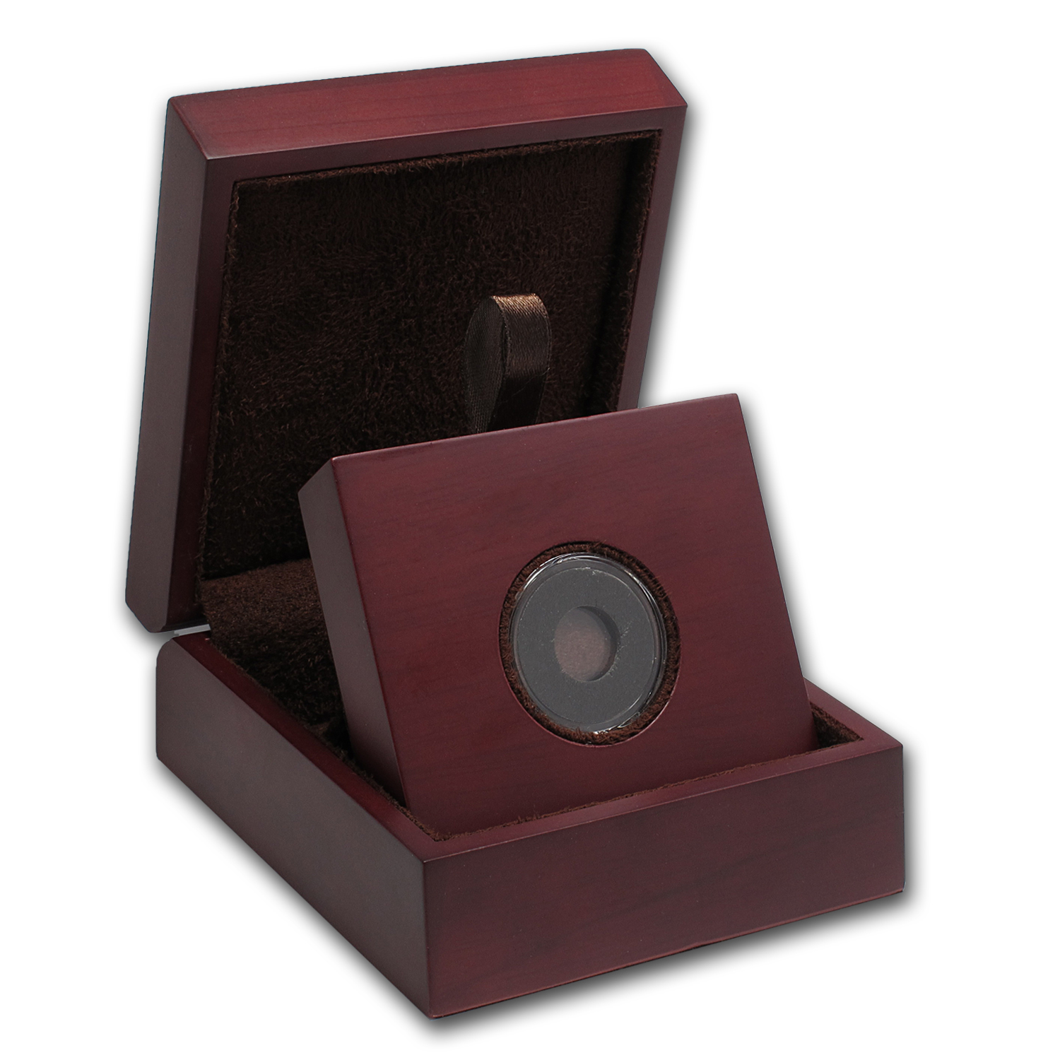 APMEX Wood Gift Box - Includes 13 mm Air-Tite Holder with Gasket