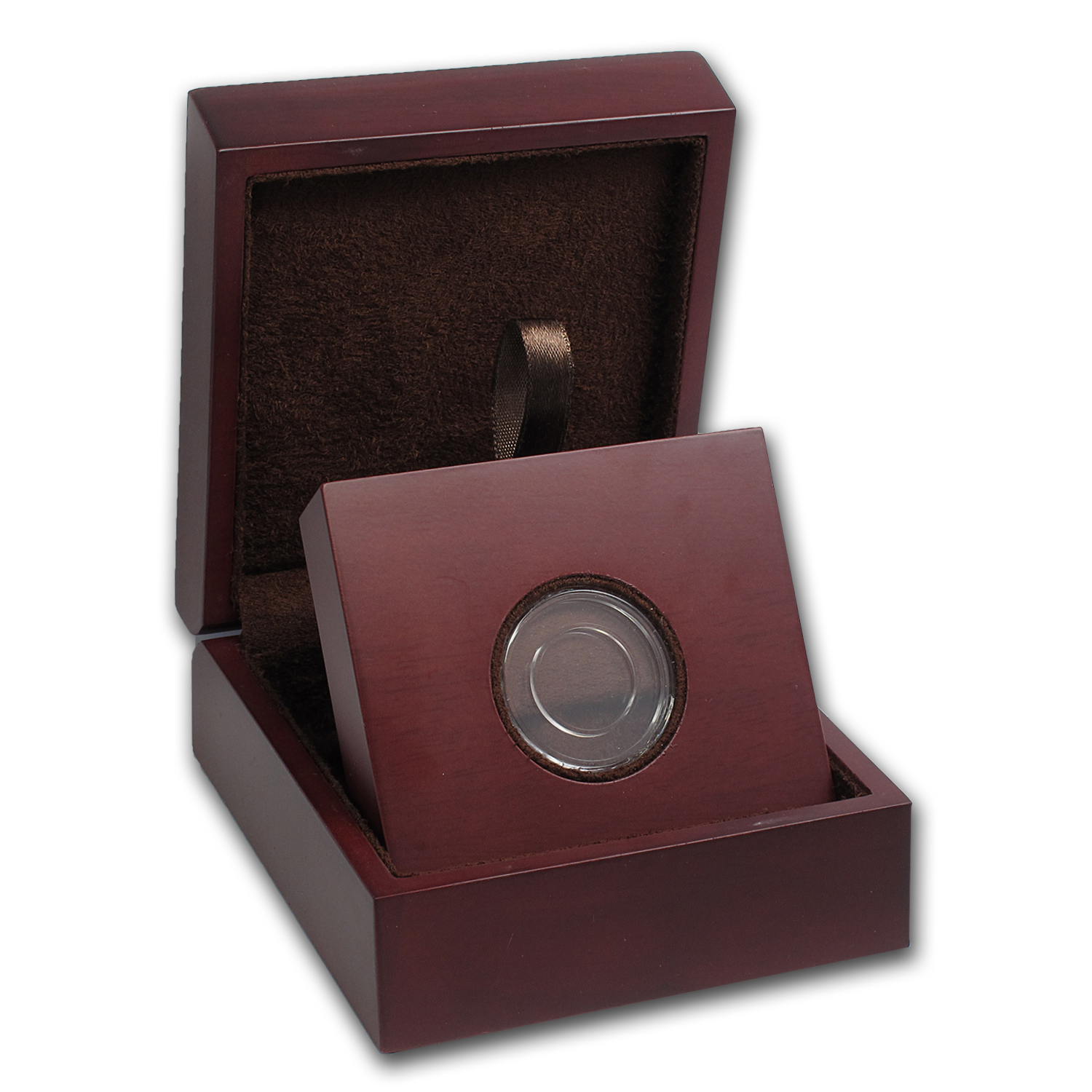 APMEX Wood Gift Box - Includes 16 mm Direct Fit Air-Tite Holder