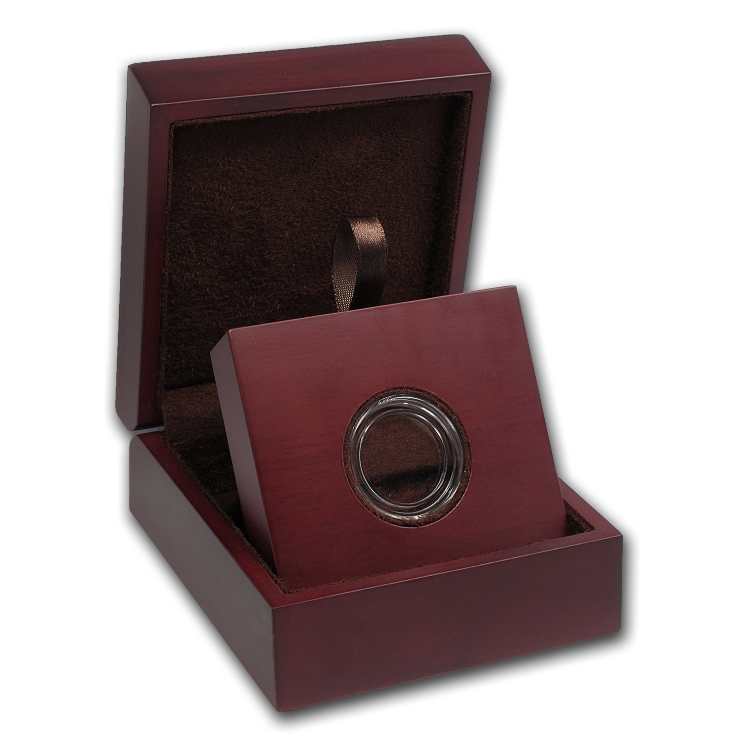 APMEX Wood Gift Box - Includes 22 mm Direct Fit Air-Tite Holder