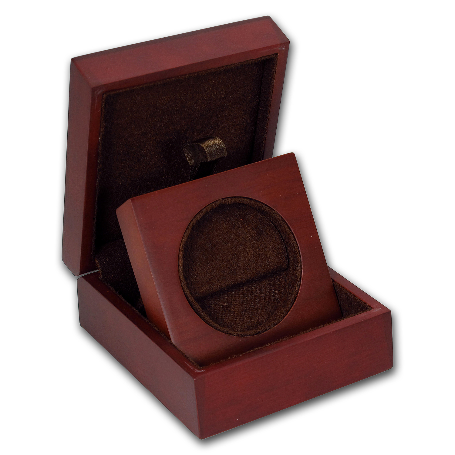 APMEX Wood Gift Box - Includes 43.6 mm Direct Fit Air-Tite Holder
