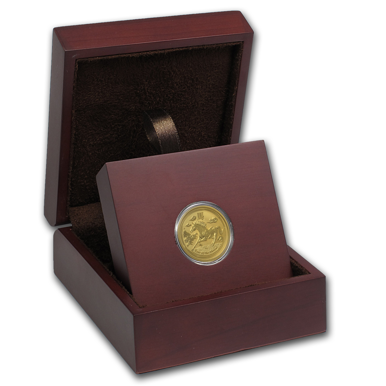 APMEX Wood Gift Box - 1/4 oz Perth Mint Gold Coin Series 2