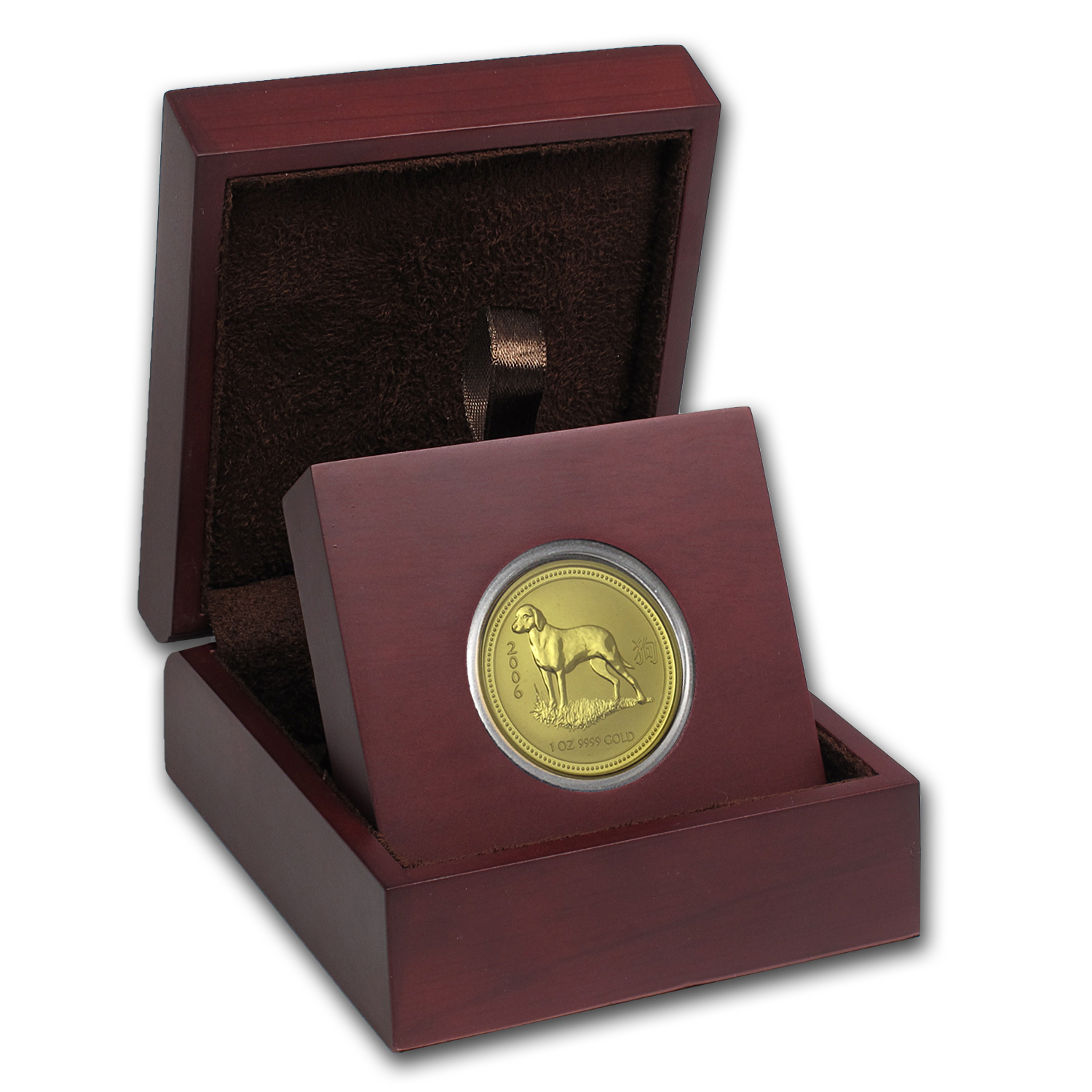 APMEX Wood Gift Box - 1 oz Perth Mint Gold Coin Series 1