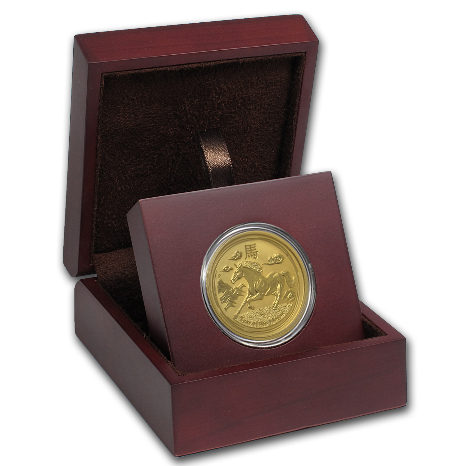 APMEX Wood Gift Box - 1 oz Perth Mint Gold Coin Series 2