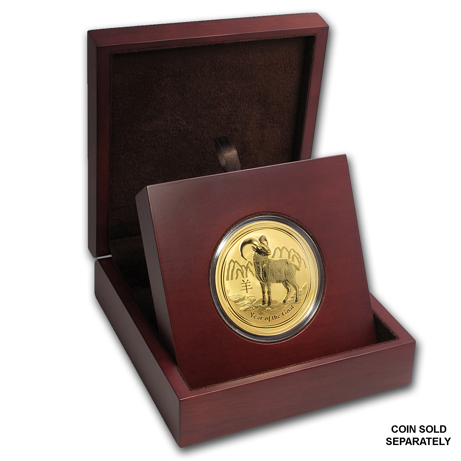 APMEX Wood Gift Box - 10 oz Perth Mint Gold Coin Series 2